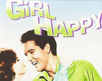 Girl Happy Elvis Presley Shelley Fabares movie poster Fridge Magnets & Keyrings Version 1 - New