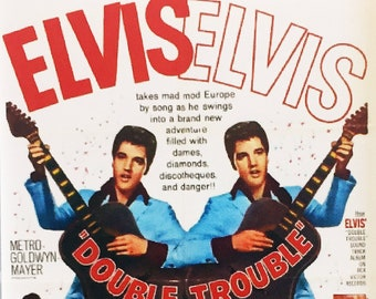 Double Trouble Elvis Presley Annette Day Guy Lambert movie poster Fridge Magnets & Keyrings - New