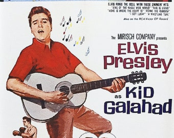 Kid Galahad Elvis Presley Charles Bronson Gig Young Joan Blackman movie poster Fridge Magnets & Keyrings - New