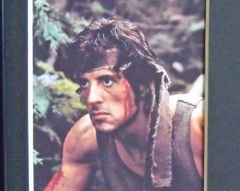 Rambo First Blood Sylvester Stallone Brian Dennehy David Caruso Mounted Unframed 35mm Film Cells