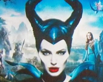 Maleficent Angelina Jolie Sharlto Copley Ellie Fanning movie poster Fridge Magnets & Keyrings Version 2 - New