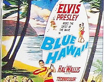 Blue Hawaii Elvis Presley Joan Blackman Angela Lansbury movie poster Fridge Magnet & Jumbo Keyring - New