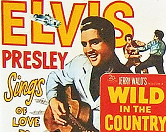 Wild In The Country Elvis Presley Hope Lange Tuesday Weld movie poster Fridge Magnet & Jumbo Keyring Version 1 - New