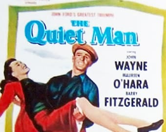 The Quiet Man John Wayne Maureen O'Hara Ward Bond movie poster Fridge Magnets & Keyrings Version 1 - New