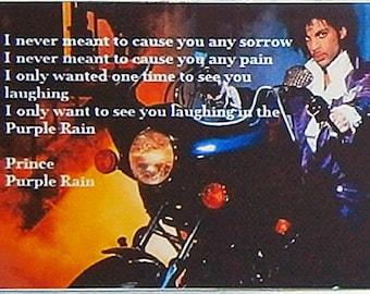 Prince Purple Rain lyrics movie poster Fridge Magnet and Jumbo Keyring Version 1 - New