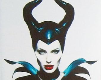 Maleficent Angelina Jolie Sharlto Copley Ellie Fanning movie poster Fridge Magnets & Keyrings Version 5 - New