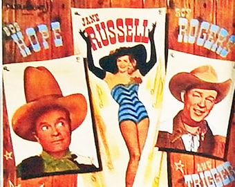 Son Of Paleface Bob Hope Jane Russell Roy Rogers Trigger movie poster Fridge Magnet and Jumbo Keyring - New
