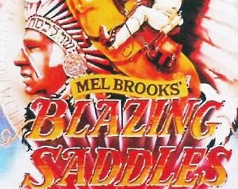 Blazing Saddles Gene Wilder Cleavon Little movie poster Fridge Magnet & Keyring Mel Brooks - New