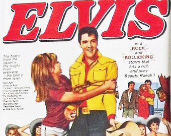 Tickle Me Elvis Presley Julie Adams Jocelyn Lane movie poster Fridge Magnet & Keyring - New