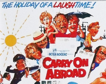 Carry On Abroad Sid James Joan Sims Kenneth Williams Hattie Jacques movie poster Fridge Magnet and Jumbo Keyring Version 1 - New