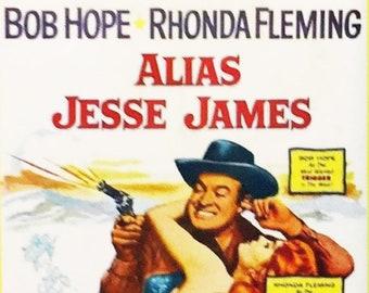 Alias Jesse James Bob Hope Rhonda Fleming Wendell Corey movie poster Fridge Magnet and Jumbo Keyring - New