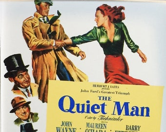 The Quiet Man John Wayne Maureen O'Hara Ward Bond movie poster movie poster Square Fridge Magnet and Square Keyring Version 3 - New