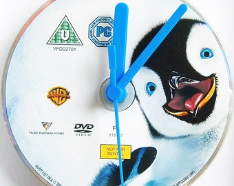 DVD clocks choose from Hellboy 2 Golden Army Hulk LOTR Happy Feet Casino Royale - Only 1 of each DVD Clock Available