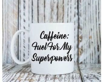 Caffeine Fuel Mug, Coffee Mug, Hot Beverage, Cold Beverage, Caffeine Mug, Cup, Coffee Cup