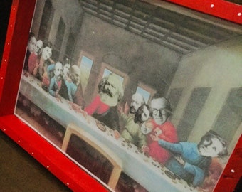The Last Sociological Supper Framed Art FREE Shipping from Japan
