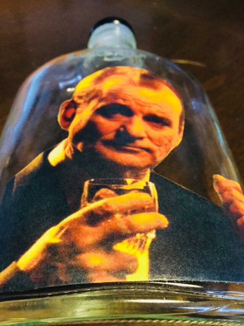Bill Murray Suntory Time Whiskey Flask 100 upcycled--Free Shipping from Japan clear glass
