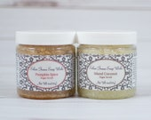 Essential Oil Sugar Scrub - Jojoba and Coconut Oil - All Natural Ingredients - Handcrafted To Order