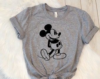 337853b73ff Vintage Mickey Mouse Shirt Trendy Unisex Disney