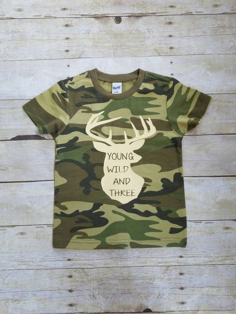 Young Wild And Three Toddler Tshirt 3rd Birthday Shirt Boy