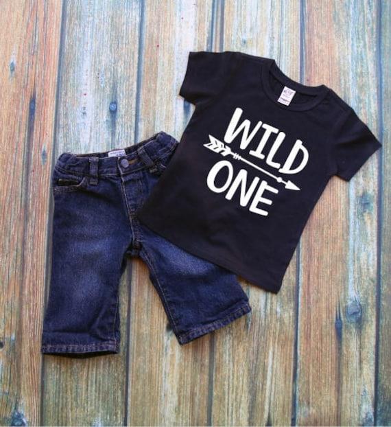 Wild One Toddler Tshirt 1st Birthday Shirt Boy Clothing