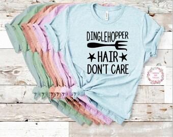 Dinglehopper Hair Don't Care Little Mermaid Shirt Trendy Unisex Disney- Unisex-