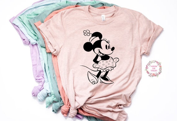 Vintage Minnie Mouse Shirt Trendy Unisex Disney Womens Shirt Etsy