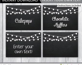 graphic regarding Free Printable Chalkboard Labels titled Allison Carey upon Etsy