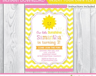 You Are My Sunshine Invitation PRINTABLE You Are My Sunshine