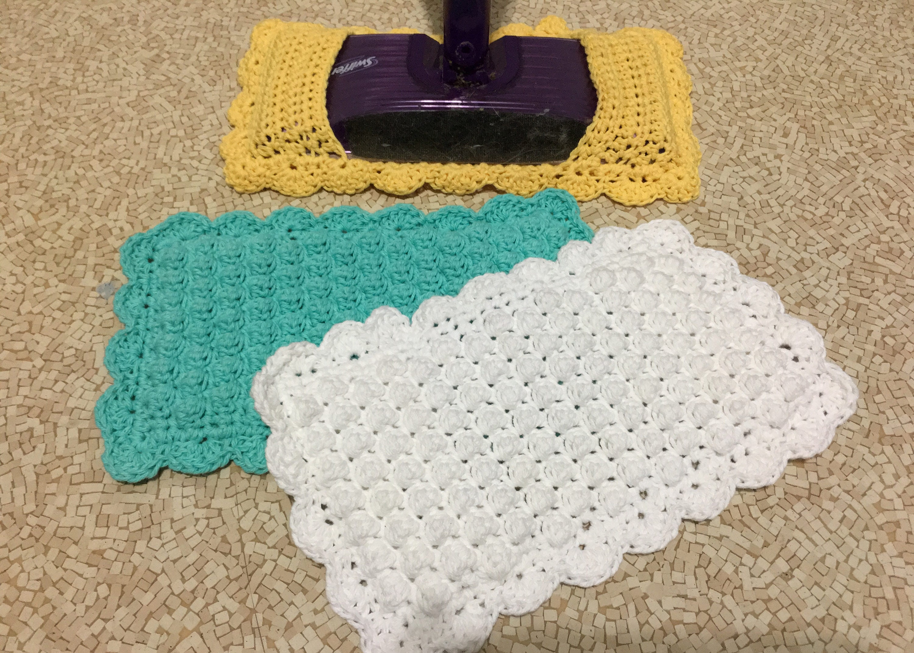 Swiffer Sweeper Cover With Baseboard Duster Crochet Pattern Etsy
