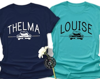 81ffbf2d Best Friend Themed Thelma or Louise Relaxed Boyfriend Fit Tee /// Vacation  Shirt, Best Friend Shirt | #2102-T