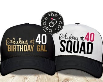 70e8d66b62c Adult 40th Birthday Trucker Hat     Adult Birthday Party