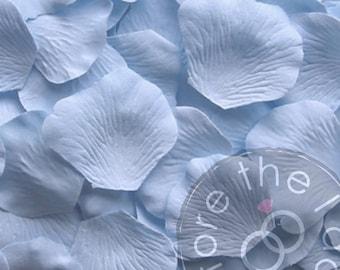 Silk flower petals etsy sky blue silk petals package of 100 silk flower petals silk rose petals mightylinksfo