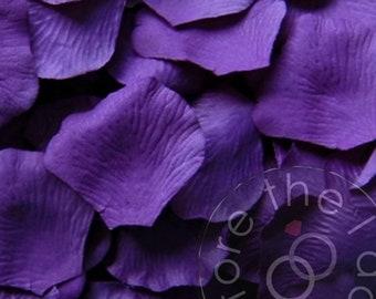 Purple rose petals etsy purple silk petals package of 100 silk flower petals silk rose petals mightylinksfo