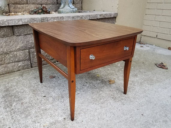 Lane Mid Century Modern End Table With Formica Top Style No Etsy