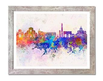 Bologna skyline in watercolor background - SKU 0685