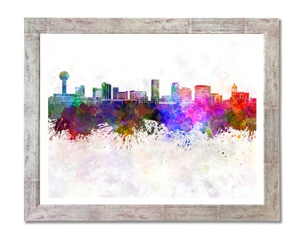Knoxville skyline in watercolor background - SKU 1132
