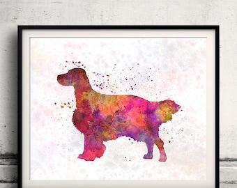 English Setter 01 in watercolor - Fine Art Print Glicee Poster Decor Home Watercolor Gift Illustration dog - SKU 1691
