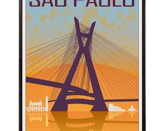 Sao Paulo vintage style poster - SKU 0921
