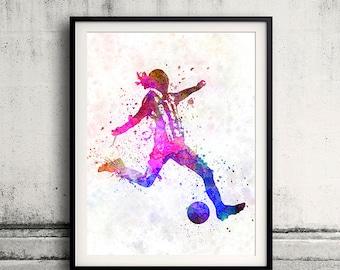 Girl soccer football player playing 04 - SKU 0710