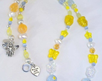 Sunny Days~ 18 Inch Beaded Necklace~ One of a Kind Jewelry for U-niqueness
