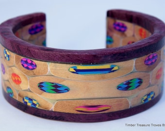 Colored Pencil Cuff Bracelet, Colored Pencil Jewelry, Cuff Style Bracelet, Colored Pencil Art, Custom order, Men's or Women's bracelet,