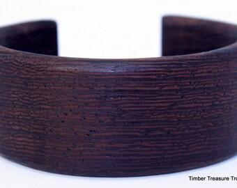 Wooden Cuff Bracelet ~ Wenge Wood, Cuff Style Bracelet ~ Custom order, Men's, Women's, cuff bracelet, Wooden jewelry