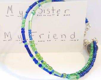 Sister Morse Code Bracelet, Secret Message, Secret Code Jewelry, Love Jewelry, My Sister My Friend, Best Friend, BFF, Dare to Dream, Custom