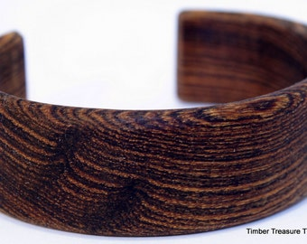 Wooden Cuff Bracelet ~ Bacote Wood, Cuff Style Bracelet ~ Custom order, For Men, Women, cuff bracelet, Wooden jewelry