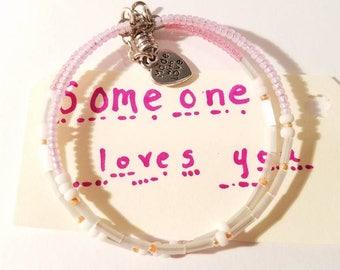 Someone Loves You, Morse Code Bracelets, New Trending Bracelets, Secret Message Bracelet, Secret Code Jewelry, Saying Jewelry