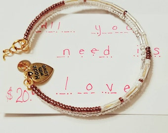 All You Need Is Love, Morse Code Bracelet, New Trending Bracelets, Secret Message Bracelet, Code Jewelry, Love Jewelry, magnetic clasp