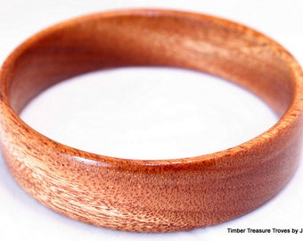 Wooden Bangle Bracelet, African Mahogany, Exotic Wood Jewelry, Stacking, Casual, Formal Wear, Hoop, Slip on, wrist fashion