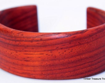 Wooden Cuff Bracelet ~ Paduak Wood, Cuff Style Bracelet ~ Custom order, Men's or Women's bracelet, Wooden jewelry