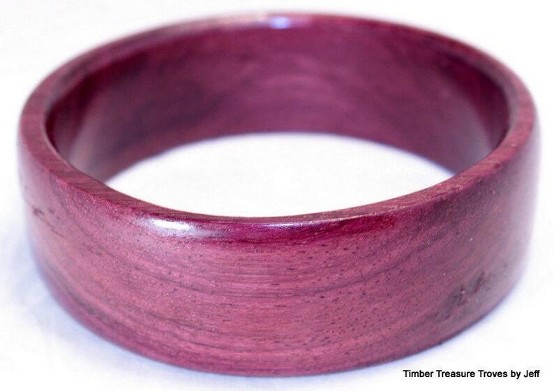 93993efdc Wooden Bangle Bracelet Purple Heart Exotic Wood Jewelry   Etsy