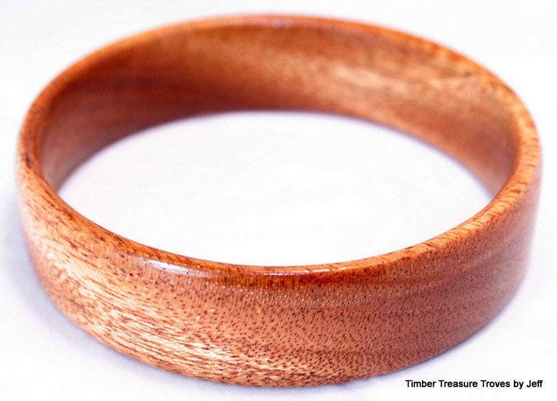 9b132a6f6 Wooden Bangle Bracelet, African Mahogany, Exotic Wood Jewelry ...
